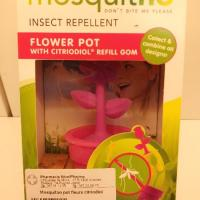 Pot de fleur au citriodiol répulsif anti moustique